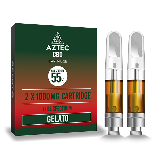Aztec Refill Gelato 2-Pack 55% CBD Cartridges