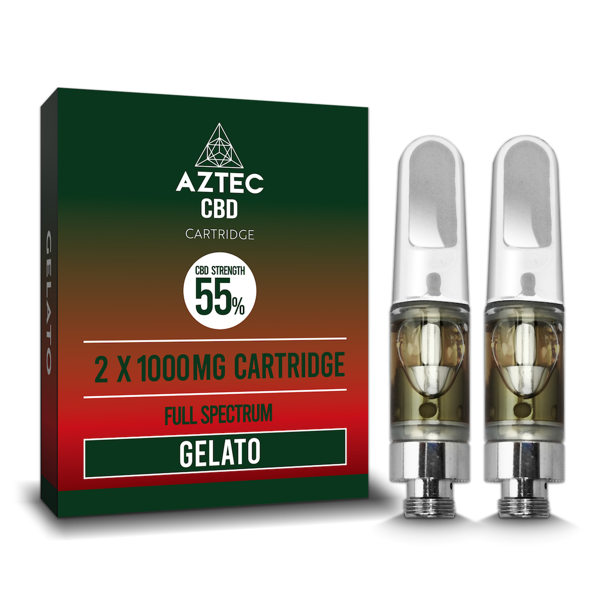 Aztec Refill Gelato 2-Pack 55% CBD Cartridges