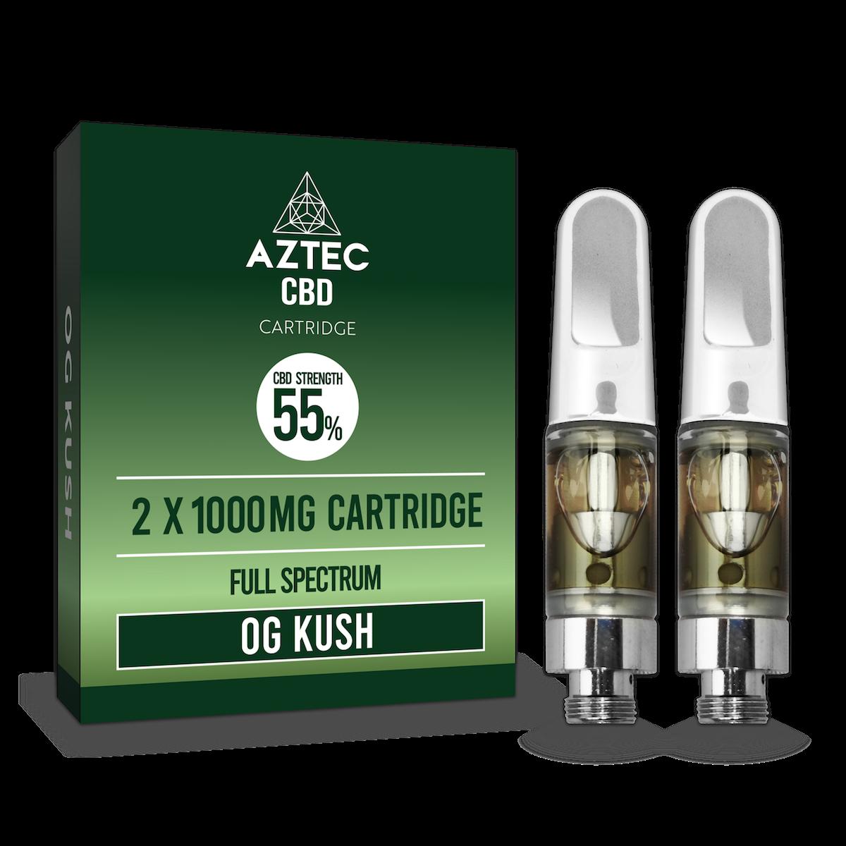 Aztec Refill O.G Kush 2-Pack 55% CBD Cartridges