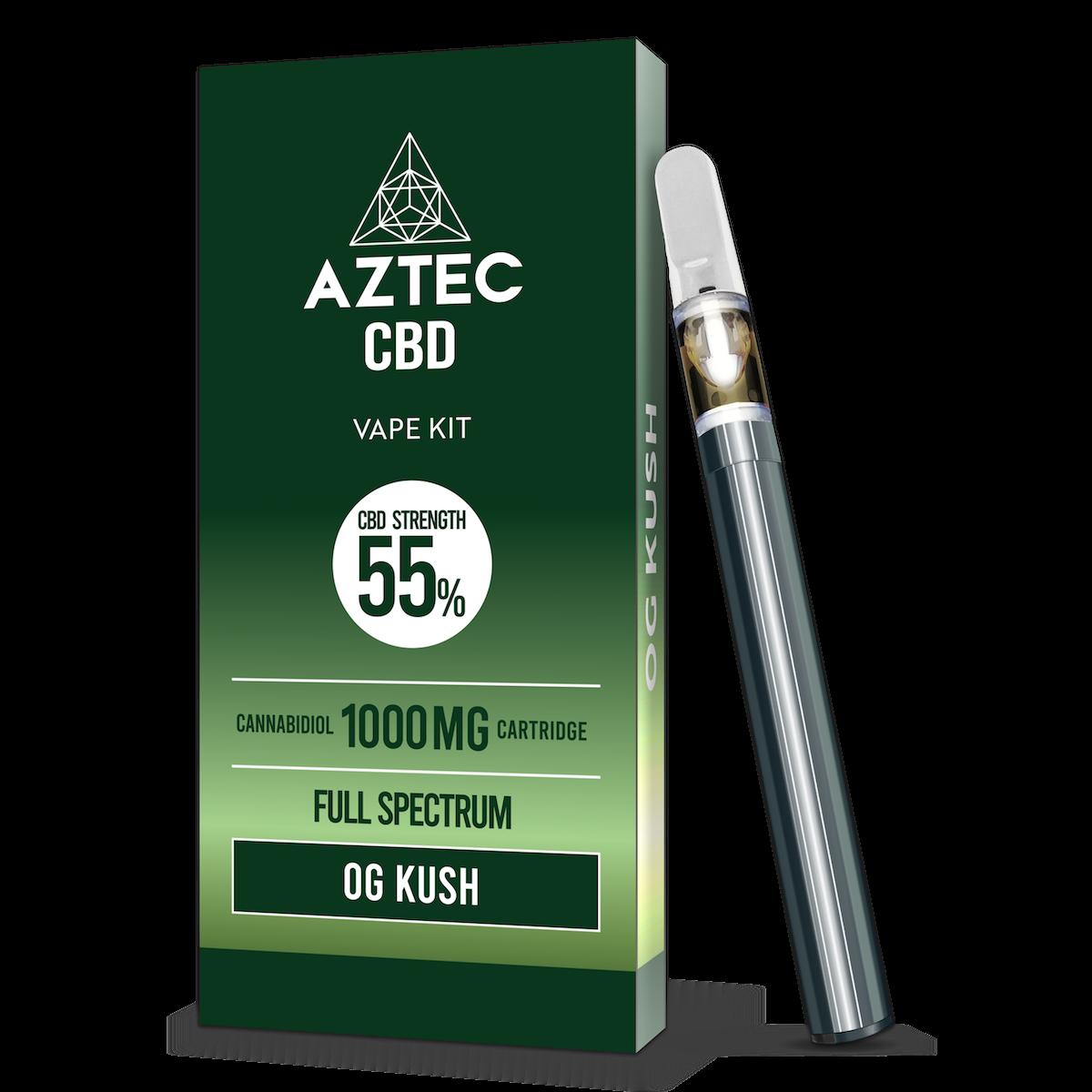 Aztec O.G Kush 55% CBD Vaping Kit