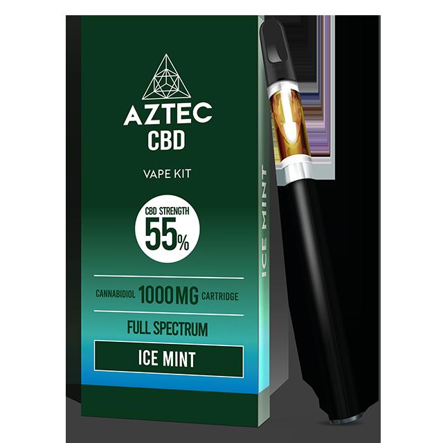 Aztec Ice Mint 55% CBD Vaping Kit