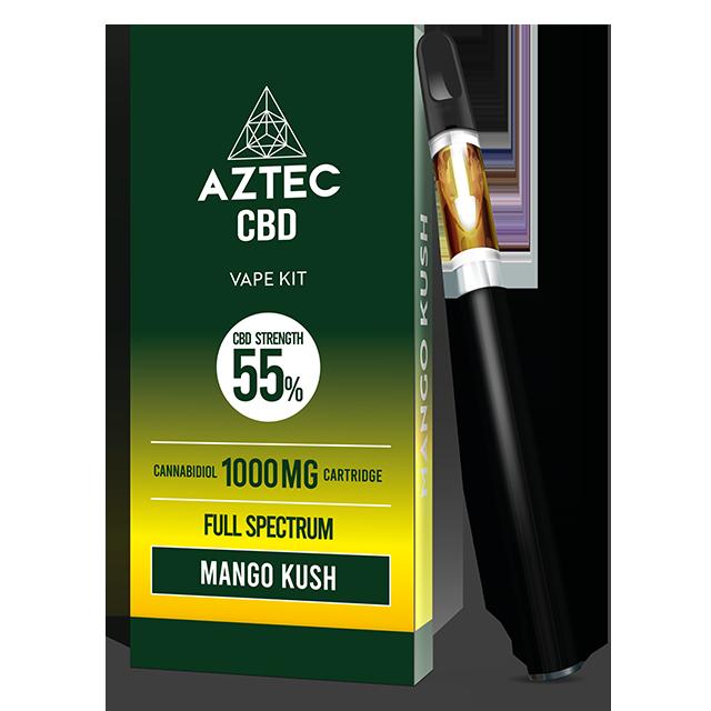 Aztec Mango Kush 55% CBD Vaping Kit