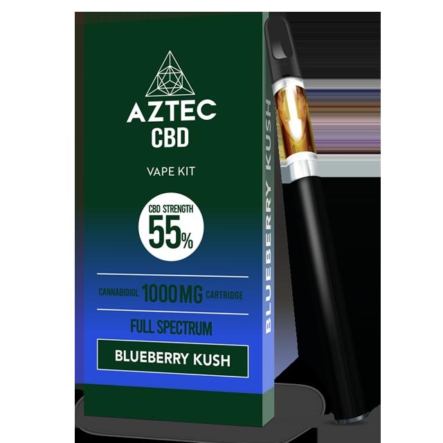 Aztec Blueberry Kush 55% CBD Vaping Kit