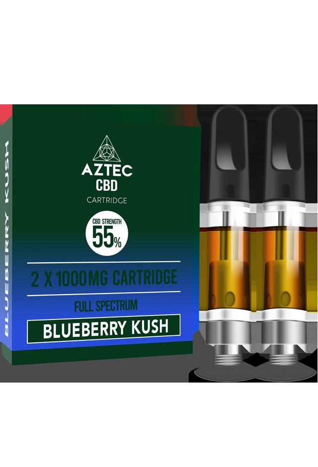 Aztec Blueberry Kush 55% CBD Cartridges-2 Pack